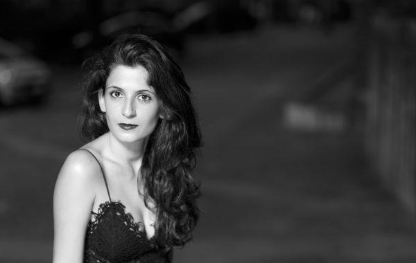 Portrait noir et blanc de Mariam