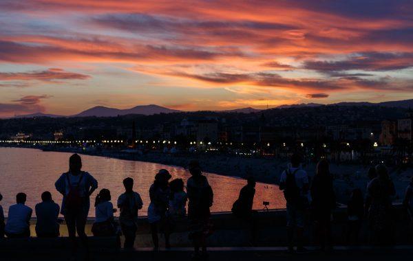 Une photo du coucher de soleil
